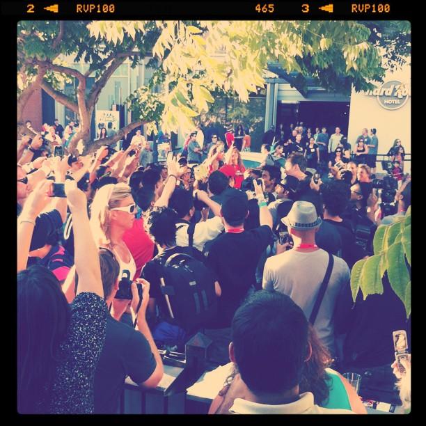Crowd going crazy for Conan O'Brian